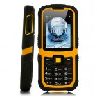 Rugged waterproof mobile cellphone with a 2 2 Inch display  dual SIM and Quad Band network features is great for outdoors use