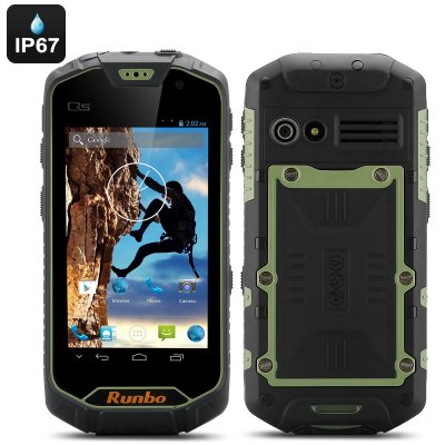 Runbo Q5S Rugged Smartphone 8GB (Green)