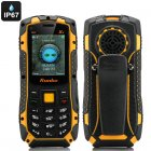 Runbo X1 Rugged Bar Phone with IP67 rating  UHF 400 470MHz Walkie Talkie  quad band GSM  Bluetooth  Torch and 4GB on board memory