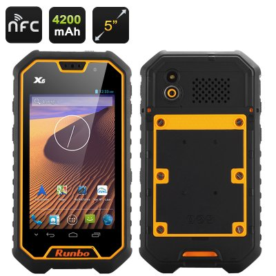 Runbo X6 Rugged Smartphone (Yellow)