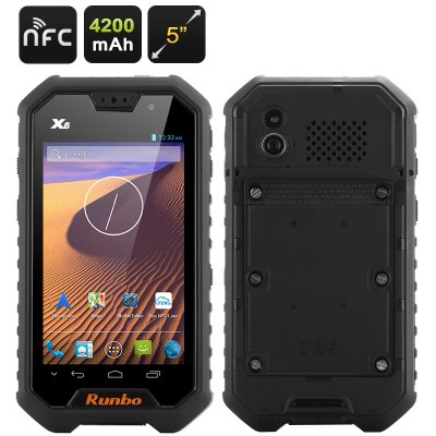Runbo X6 Rugged Smartphone (Black)