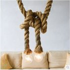 Hemp Rope 85-265V Ceiling Chandelier Wiring