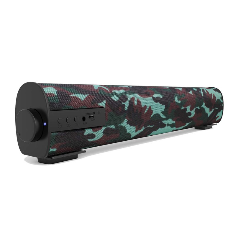 S09 HIFI Bluetooth Speaker Home Theater Soundbar Super Bass Portable Wireless PC TV Speaker Subwoofer Mic camouflage