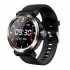S18 Smartwatch Full Touch Heart Rate Blood Pressure Sleep Monitoring Call Information Alert Smart Bracelet black