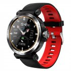 S18 Smartwatch Full Touch Heart Rate Blood Pressure Sleep Monitoring Call Information Alert Smart Bracelet red