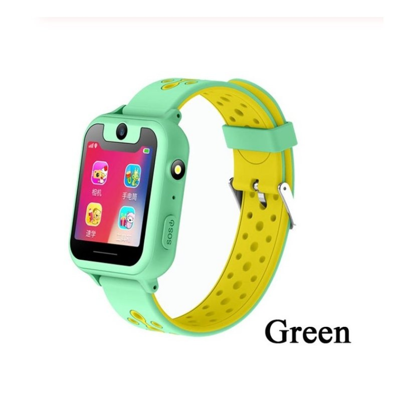 S6 Children's Smart Watch LBS Phone GPS Watch SOS Emergency Call Position Locator Outdoor Tracker Baby Anti-lost Monitor Green LBS version