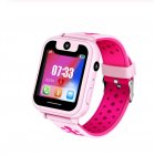 S6 Children's Smart Watch LBS Phone GPS Watch SOS Emergency Call Position Locator Outdoor Tracker Baby Anti-lost Monitor Pink GPS version