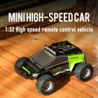 S638 1:32 Remote Control Electric Drift 20KM / H High Speed RC Car 2.4GHz Off Road Vehicles 4WD for Kids Christmas green
