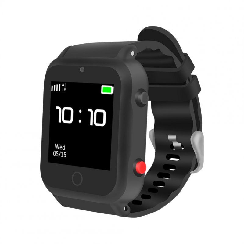 S88 Touch Screen Smart Watch GPS Global Positioning Watch for The Elderly Childrens Kids black