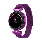 S886 Smart Watch Round Color Screen Women Heart Rate Blood Pressure Motion Monitoring Smart Bracelet purple