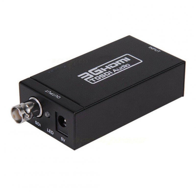 SD-SDI/HD-SDI/3G-SDII to HDMI Adapter Support 1080P High Definition Input SDI Converter black