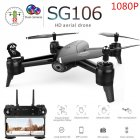 SG106 Drone with Dual Camera 1080P 720P 4K WiFi FPV Real Time Aerial Video Wide Angle Optical Flow RC Quadcopter Helicopter Toys 1080P dual camera