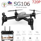 SG106 Drone with Dual Camera 1080P 720P 4K WiFi FPV Real Time Aerial Video Wide Angle Optical Flow RC Quadcopter Helicopter Toys 720P dual camera