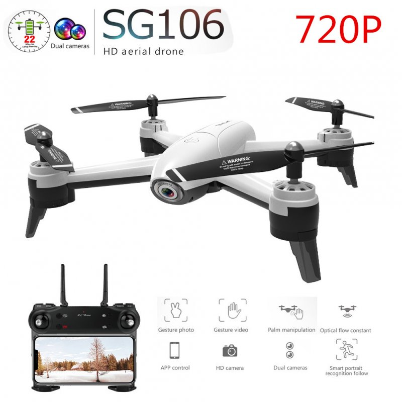 SG106 RC Drone Optical Flow 1080P 4K HD Dual Camera Real Time Aerial Video RC Quadcopter Aircraft Positioning RTF Toys Kids 720P dual camera