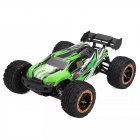 SG1602 1/16 2.4G 30KM/H Brush Simulation Large Caster Leather Grip RC Car Big Foot High Speed Vehicle Models with LED lights green