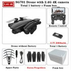 SG701 SG701-S GPS Drone with 5G WIFI FPV 4K Dual HD Camera Optical Flow Quadcopter Foldable RC Helicopter VS S167 E520S 2.4g foam box