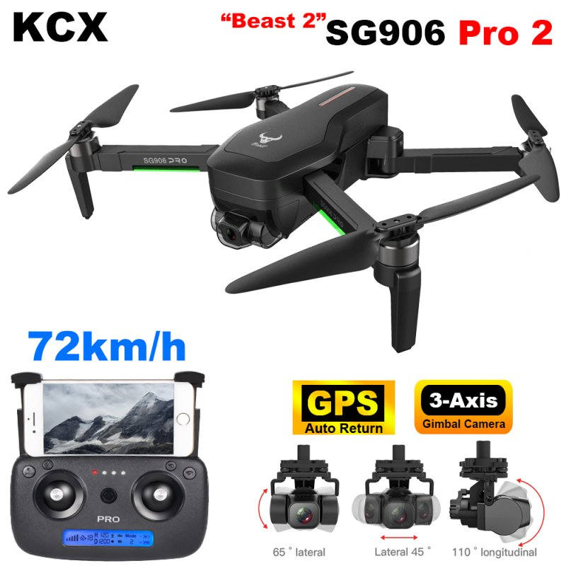 SG906 PRO2 Professional Drone with Camera 4K hd 3-Axis Gimbal self-stabilization 5G WiFi FPV Brushless RC quadcopter drone GPS With foam box 3 batteries