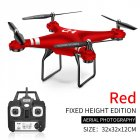 SH5 RC Drone 2.4G 4CH 6-Axis Gyro 360 Degree Rolling RC Quadcopter Headless Mode UAV SH5 red fixed without camera