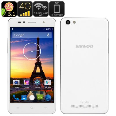 Siswoo C50A 4G Android 5.1 Smartphone (White)