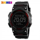 SKMEI Men Sport Watch Waterproof Fashion Outdoor Noctilucent Electronic Watch red