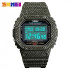 SKMEI Outdoor Sport Men Digital Watch 50M Waterproof Alarm Clock Fashion Watches  Army Green
