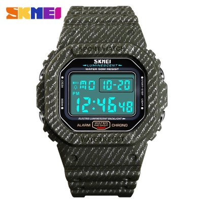 SKMEI Outdoor Sport Men Watch Army Green