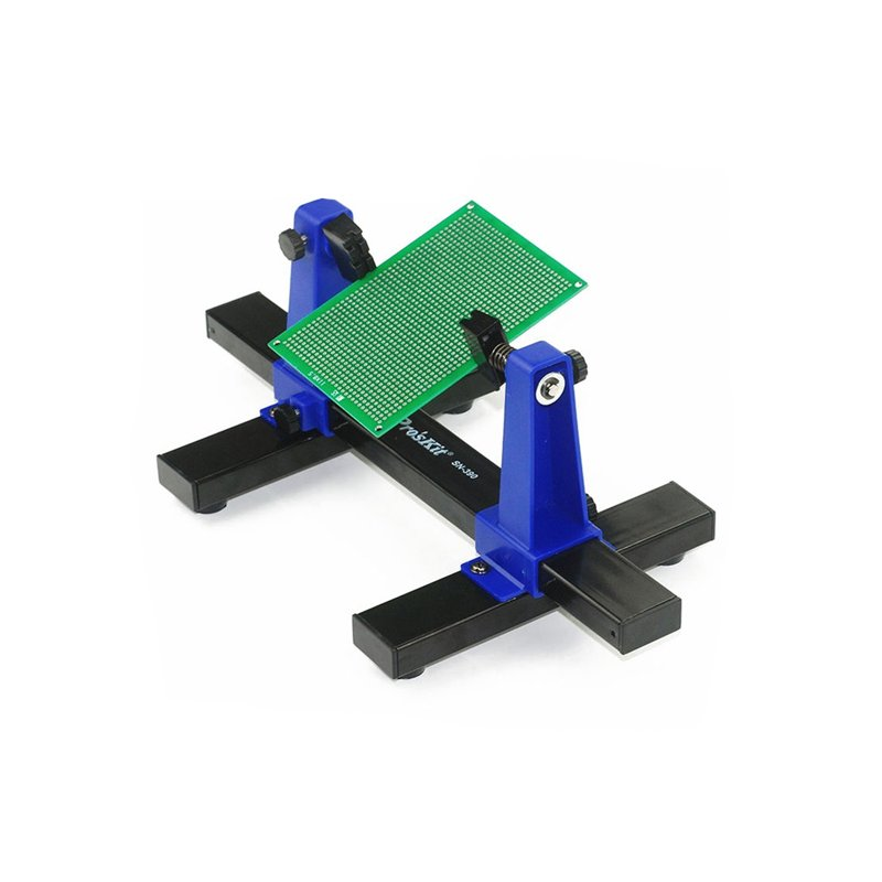 SN-390 360 Degree Adjustable PCB Holder Printed Circuit Board Holder Soldering Assembly Clamps blue