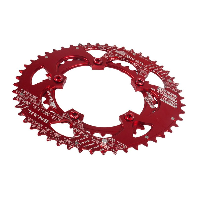 SNAIL Oval Chainring 110bcd Road Bike 50T/35T Double Bicycle Chain Ring Cycling Chainwheel Disc Bike Parts Red
