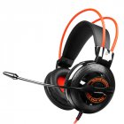 SOMiC G925 Wired Headphone 3.5mm Gaming Headset for PC Laptop phone Over Ear with Mic Earphone Black orange
