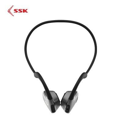 SSK Bone Conduction Earphone Wireless Bluetooth 5 0 Sport Earphone  Waterproof with Microphone BT011 Black