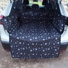 SUV Trunk Dedicated Half Pack Car Mat Waterproof Scratch Resistant Car Pet Mat Black bones_185 * 104 * 33 [3D stereo]