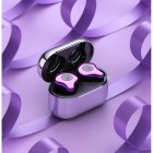 Sabbat E12 TWS Wireless Bluetooth Headphones 5 0 Auto Pairing In ear Sports Headset   Purple Silver Plated Charging Pin