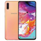 Samsung Galaxy A70 4G Smartphone 6 7   Water Drop Screen 6GB 128GB Front Camera 4500mAh Coral Orange