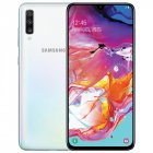 Samsung Galaxy A70 A7050 Mobile Phone 6 7  6GB RAM 128GB ROM Water Drop Screen NFC CellPhone  Pearl White