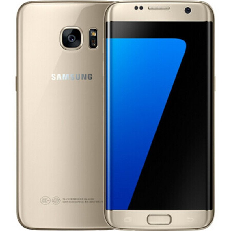 Samsung Galaxy S7 Edge G935F & G935V Smartphone 5.5'' 4GB RAM 32GB ROM WIFI Single SIM 12MP 1080P 4G LTE Quad Core Mobile Phone Gold_32G