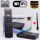 Satellite Receiver iBRAVEBOX V8 HD DVB S S2  Full HD Wifi Satellite Finder black