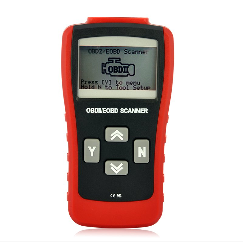 OBD-II + EOBD Code Scanner w/ Display