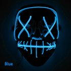 Scary Halloween Mask LED Light Up Mask for Festival Cosplay Halloween Costume Navy blue