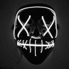 Halloween Mask LED Light Up Mask White Light