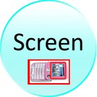 Screen for CVFD M65 PINK Metro Pink   Dual SIM Swivel Screen QWERTY Cosmopolitan Phone