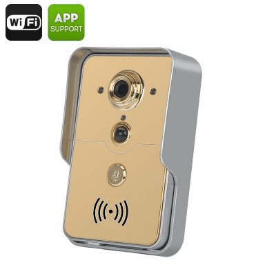 Smart Wi-Fi Camera Doorbell (Gold)