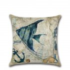 Sea Animals Series Printing Throw Pillow Cover Decoration without Filling Inner 406 marine fish_45*45cm
