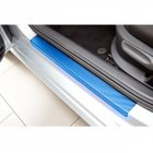 Sedan Hatchback Car Door Sill Scuff Pedal Car Door Plate Car Sticker Protective Accessories blue