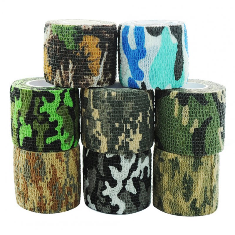 Self-adhesive Reused Non-woven fabric Outdoor Camouflage Wrap Tape Camo Stealth Tape for Hunting Rifle Bicycle Telescope Color Random random