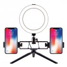 Selfie Ring Light LED Circle Light USB LED Desktop Lamp with Stand Dimmable LED Fill Light for Live Stream Photograph Desktop stand + 20cm fill light + double position