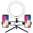 Selfie Ring Light LED Circle Light USB LED Desktop Lamp with Stand Dimmable LED Fill Light for Live Stream Photograph Desktop stand   26cm fill light   double p