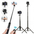 Selfie Stick Tripod Extendable Camera Tripod for Cellphone Wireless Remote for Apple & Android iPhone 8 X Plus Samsung Galaxy S9 Note8 black