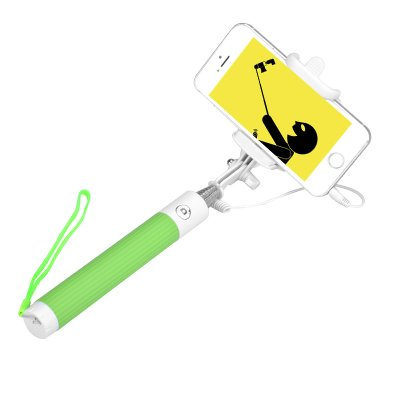 Selfie Stick For Android + iOS  (Green)