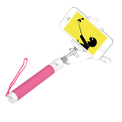 Selfie Stick For iOS + Android (Pink)