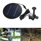 Separating Solar Powered Fountain for Garden Pond Decor